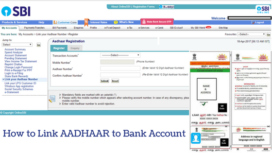 How to Link AADHAAR to Bank Account